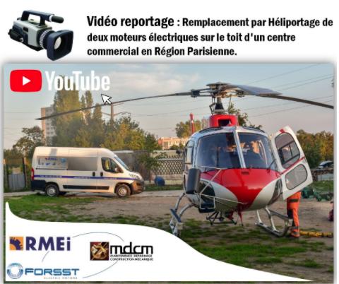 Remplacement de moteurs électriques par hélicoptère